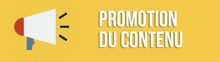 Promotion du contenu
