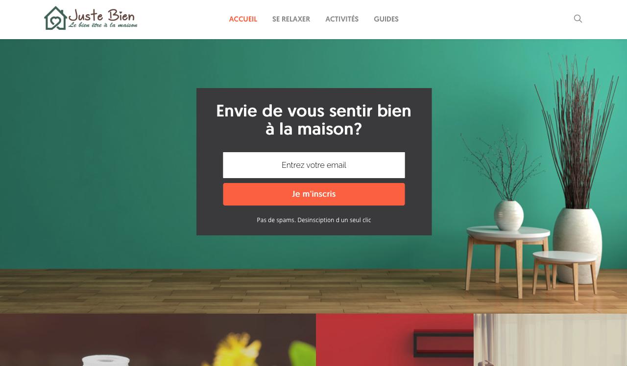 site internet justebien.fr